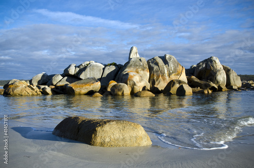 Granite rocks,  Bay of Fires, Tasmania, Australia
