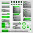 collection of web design elements, green set