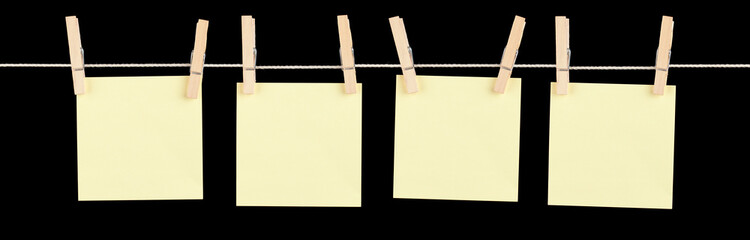 Mini Yellow Memos on a String