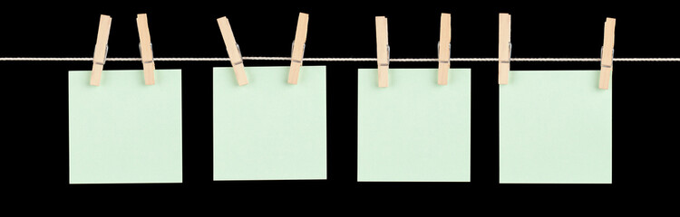 Mini Green Memos on a String