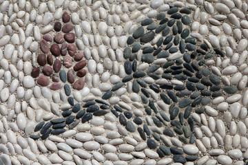 Mosaikfußboden mit Blume
