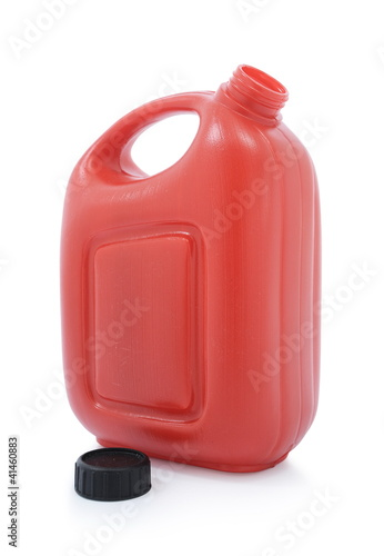 oil tube with an open lid isolated on white background