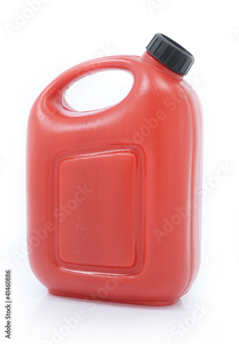 canister machine oil isolated on white background
