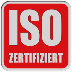 Sticker rot quad rel ISO ZERTIFIZIERT