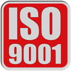 Sticker rot quad rel ISO 9001