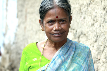 Smiling Indian Senior Woman