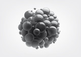 Fototapety Abstract spheres with reflective surface