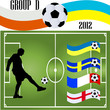 soccer player and flag 2012 - vector