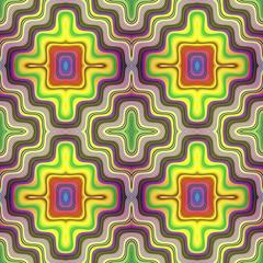 Optic illusion illustration with geometric design