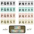 Flip alphabet set 4