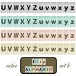 Flip alphabet set 5