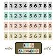 Flip alphabet set 6