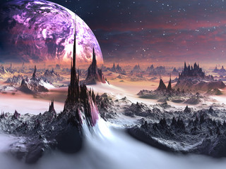 Winter on Alien World