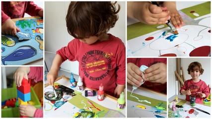 Montage d'activités manuelles pour enfant