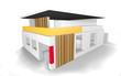 Modernes Wohnhaus - 3D