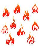 Fire symbols - 41468454