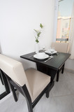Small dining table in an apartment