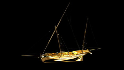 Gold sea vessel