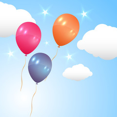 Balloons flying in the air