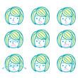女性の表情9種類