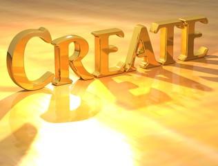 3D Create Gold text