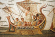 Mosaic scene from Homer's Odyssey in Bardo Museum, Tunisia