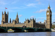 canvas print picture - London 2012 Westminster with Big Ben and Themse River