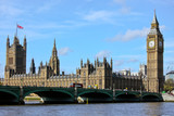 Fototapety London Westminster with Big Ben and Themse River