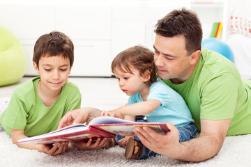 Reading time with father