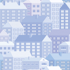 Houses - seamless pattern
