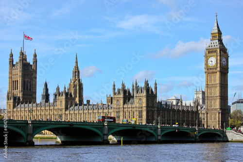 London 2012 Westminster with Big Ben and Themse River