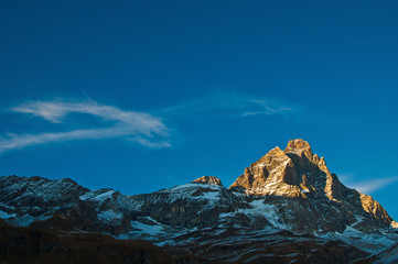 Sunset on Mount Cervino, Aosta Valley