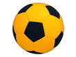 Orange soccer ball isolated