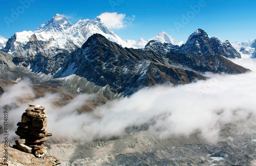 view from gokyo ri to everest