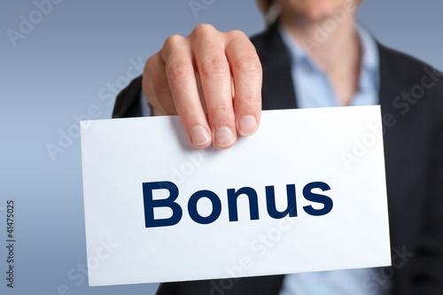 Bonus Geldumschlag