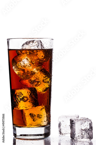 Ice Tea on white background