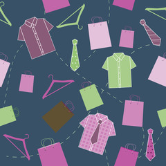 Seamless pattern with shirts