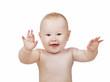 Detaily fotografie joying baby boy