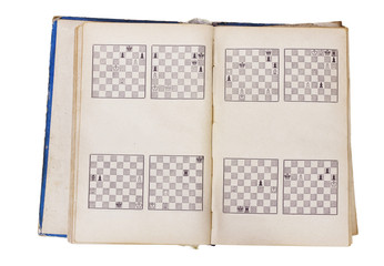Chess book pages