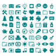 collection different pictograms.