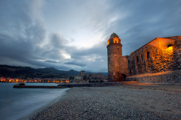 Le phare de Collioure, dans le sud de la France.