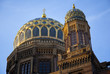 Top of the New Synagogue of Berlin in Germany