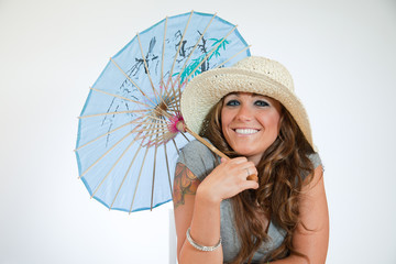 Beauty With A Parasol