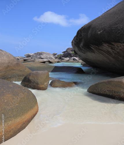 Unusual beach
