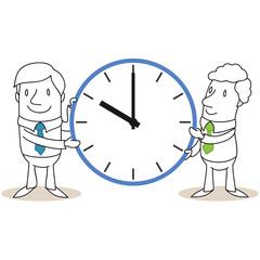 Geschäftsleute, Uhr, Arbeitszeit