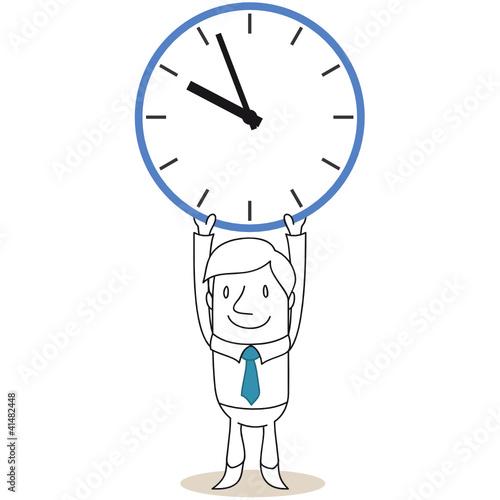 Geschäftsmann, Uhr, Pause, Arbeitszeit