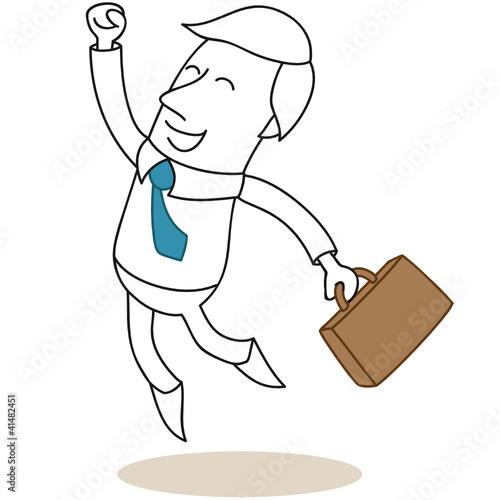 Geschäftsmann, Jubel, Freude, springend