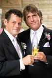 Gay Couple at Wedding Reception