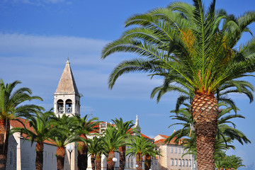 The city of Trogir in Dalmatia, Croatia on Adriatic Coast