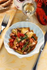 Maltagliati con l'astice Maltagliati with lobster